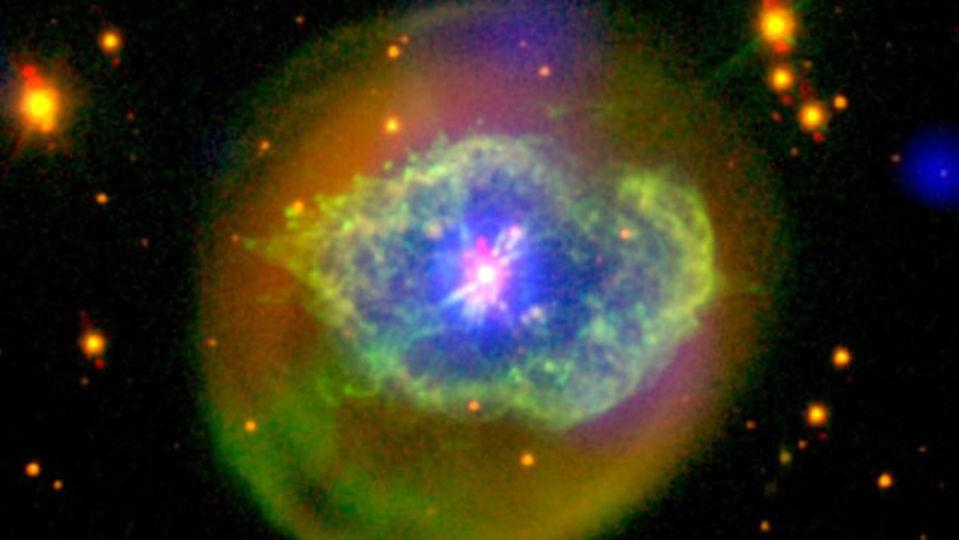 星が死にゆくとき、美しい星雲の爆発が起きる
