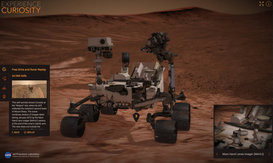 なりきりキュリオシティ。NASAがバーチャル火星旅行サイトを公開