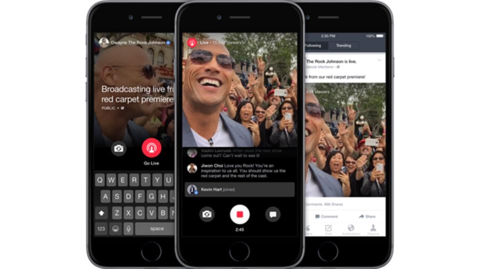 タイムシフト視聴もできるよ。フェイスブック、著名人が使えるモバイルライブ配信を実装