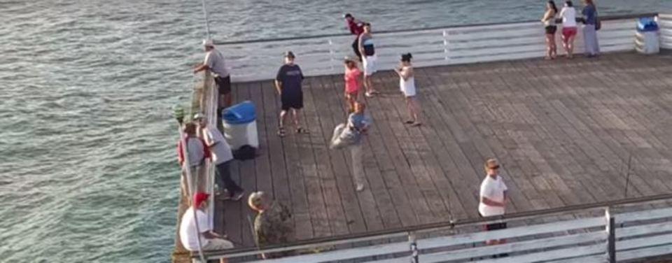 釣り人がドローンを捕獲する空撮が話題に