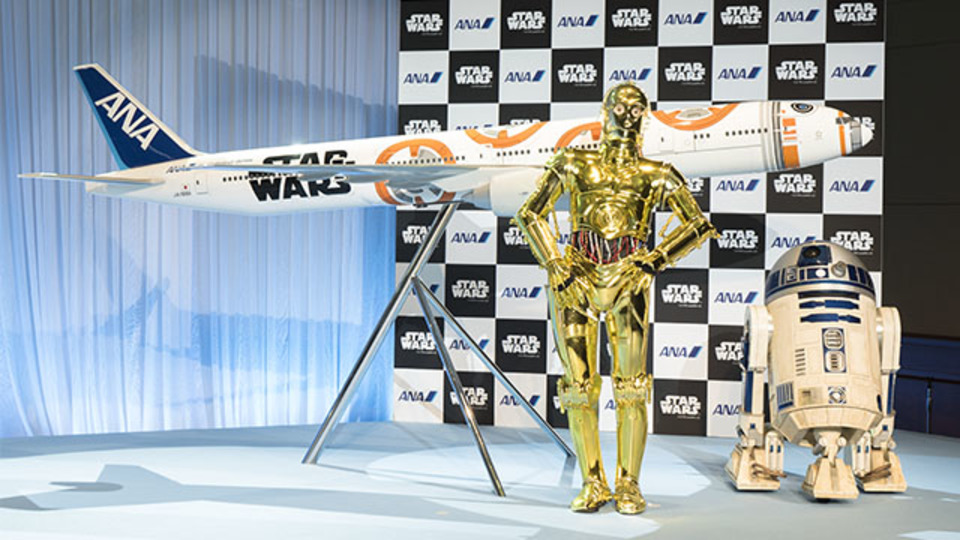 ANA「STAR WARSプロジェクト」、コロコロドロイドBB-8仕様の飛行機を発表!