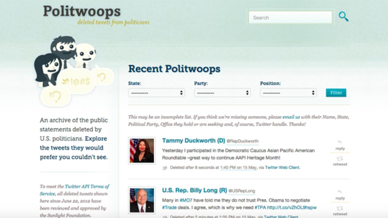 ツイッター、政治家の削除ツイートをアーカイブするサイトを追い払う