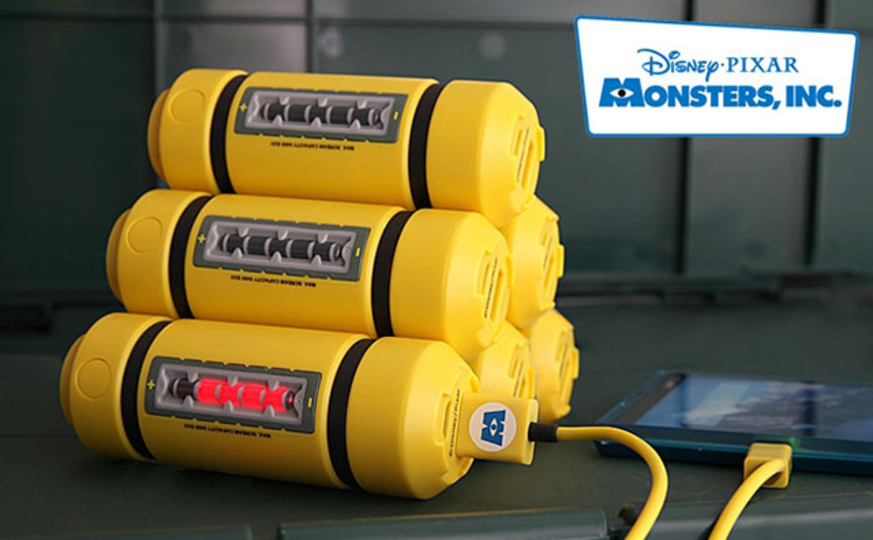 これはかわいい! モンスターズ・インクのエネルギータンク型モバイルバッテリー