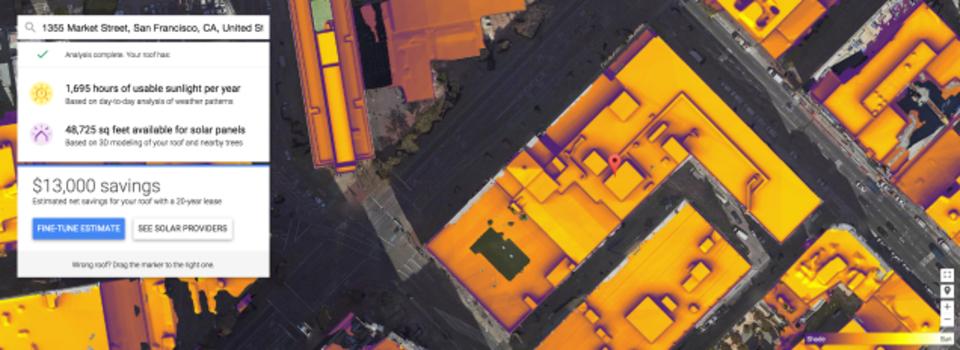 ソーラーパネルに興味はあっても面倒くさいあなたにGoogleのProject Sunroof