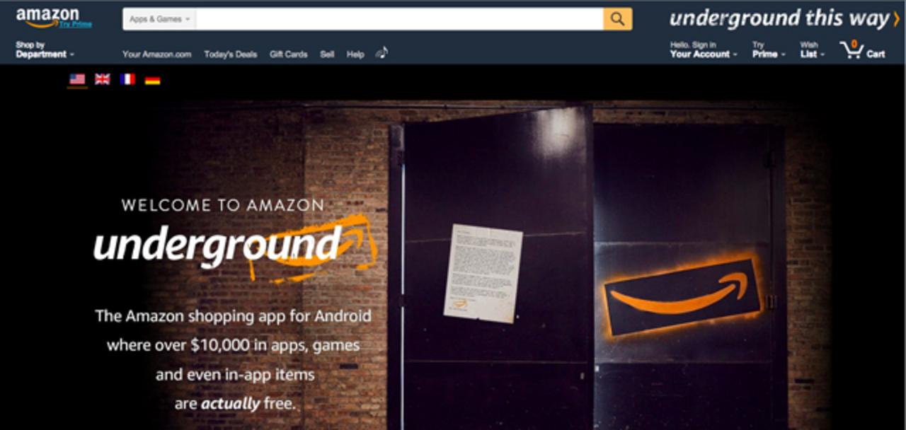 アマゾン、アイテム課金もすべて無料になるアプリストア「Amazon Underground」をローンチ