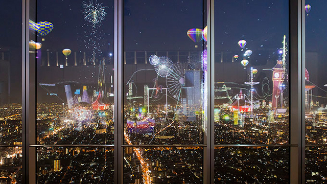 NAKEDが夜空に魔法をかけました。次は渋谷ヒカリエで
