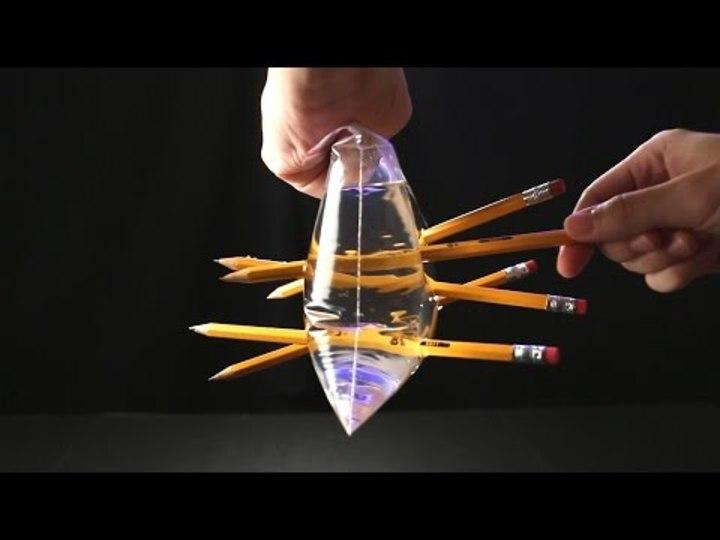 漏れない水、折れない紙…DIYできる不思議実験