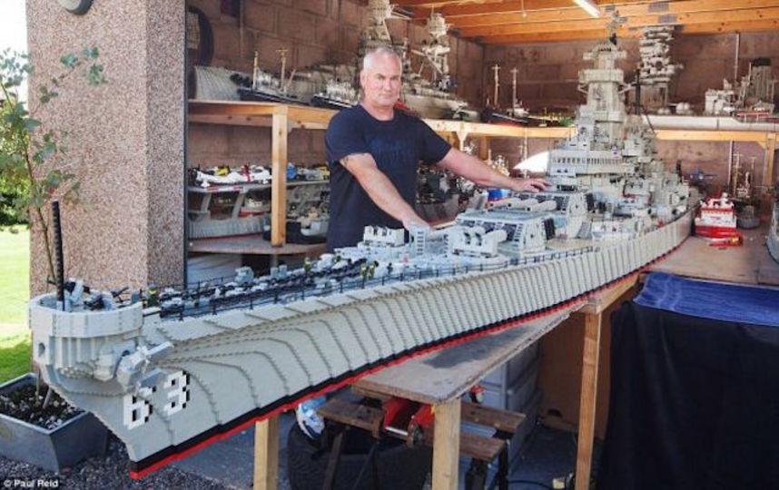 レゴで約7mの戦艦ミズーリを作ったおじさんがかっこいい