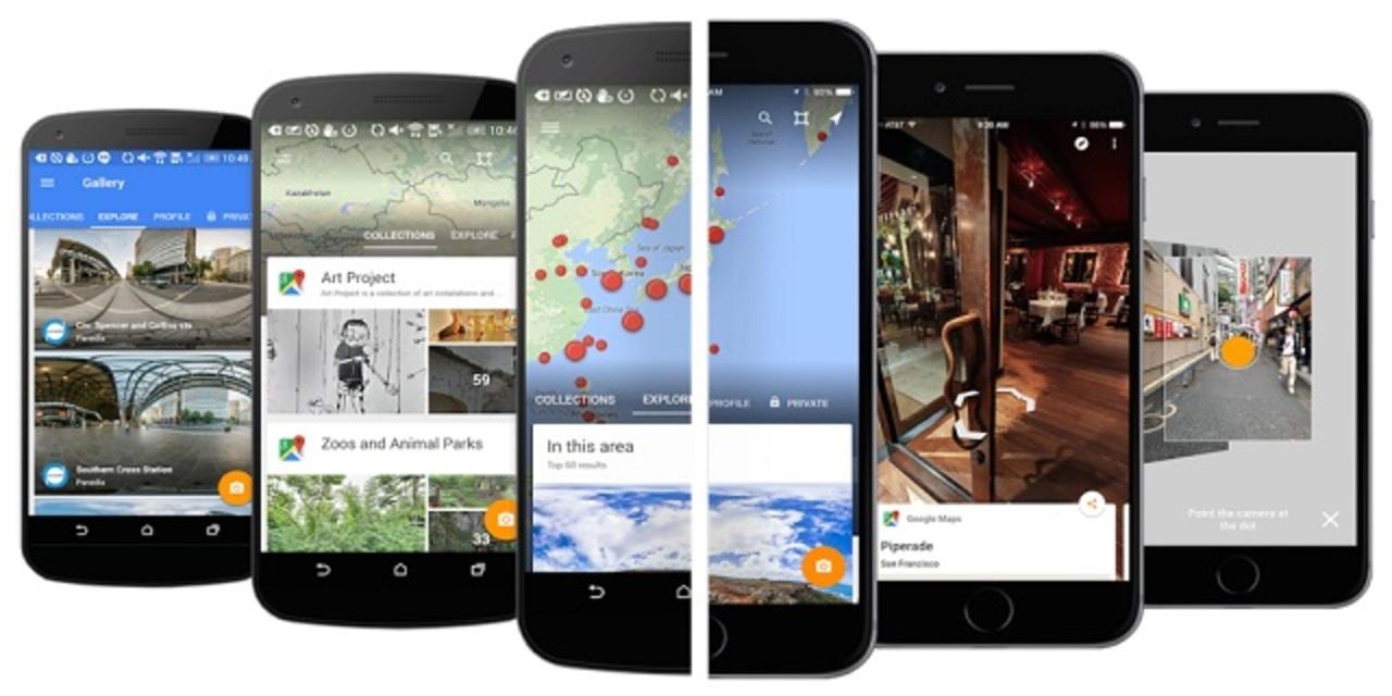 「グーグル・ストリートビュー」のiPhone向けアプリが出たよ