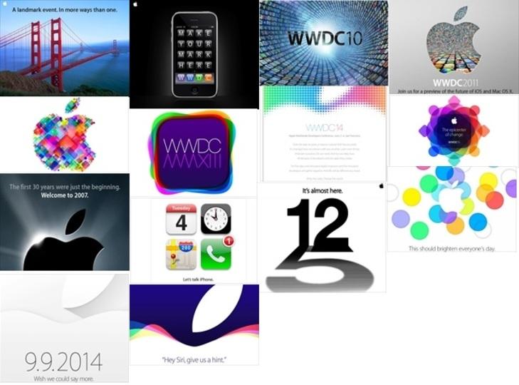 アップルの歴代招待状を見れば、10日のイベントも見えてくるかも