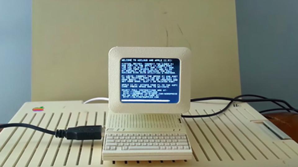 起動もするよ! 3Dプリントで作った手のひらサイズの「Apple IIc」