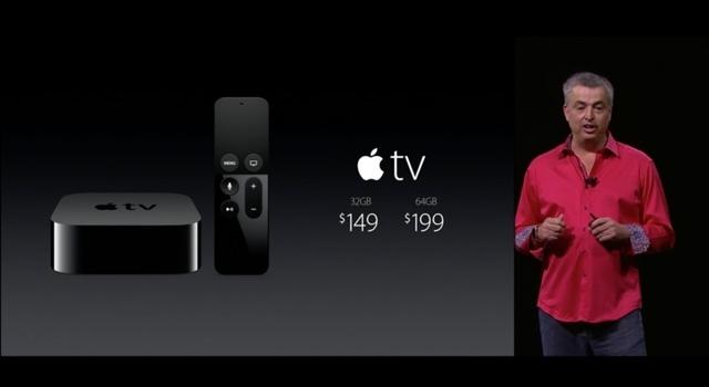 新Apple TV発表:10月末発売、約1万8000円から