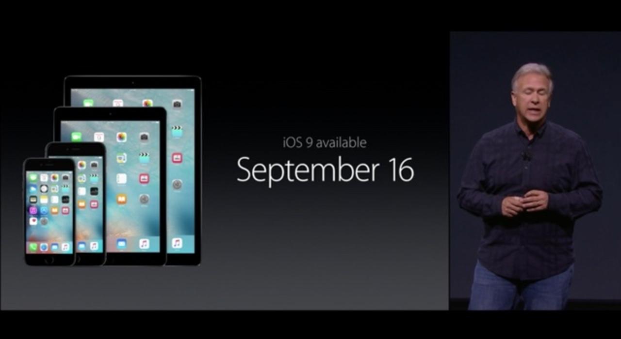 iOS 9、9月16日から配信です