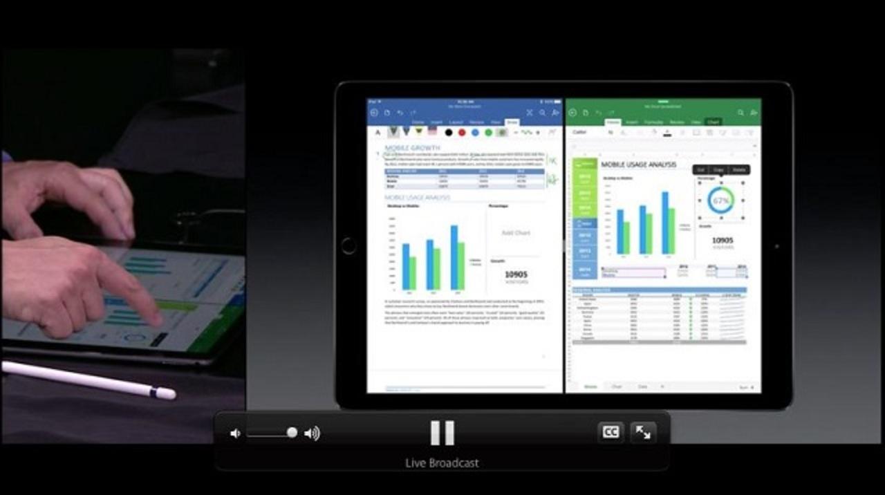 Surface売ってるMSがOfficeアプリをiPad Proでデモ