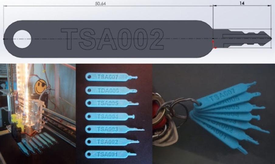 世界中がTSA錠マスターキーを3Dプリントできるこの状況。ゴールデンキーなんかできた日にゃ…