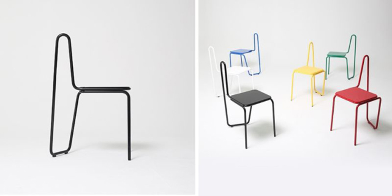 サササーっと一筆書きされた椅子