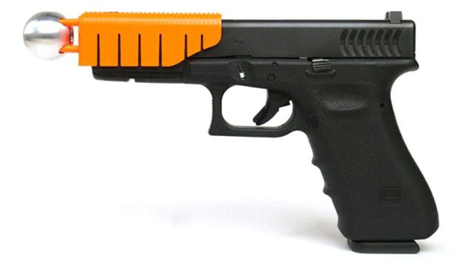 クリップ式アタッチメントでハンドガンが殺傷性のない武器に(1発目だけ)