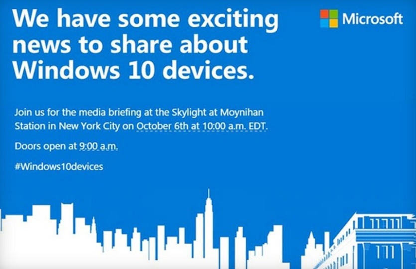 Surface Pro 4に期待! マイクロソフトが10月6日にイベント開催へ