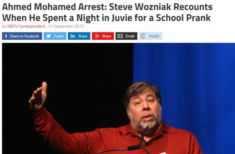 DIY時計で逮捕のモハメド少年にウォズが「自分も昔あった」とエール