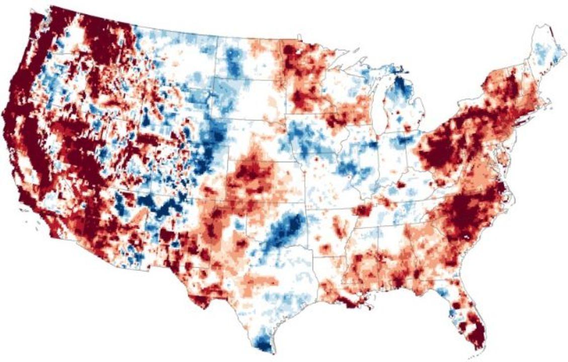 米国の干ばつは地中にまで及ぶ。NASA発表の地図で一目瞭然