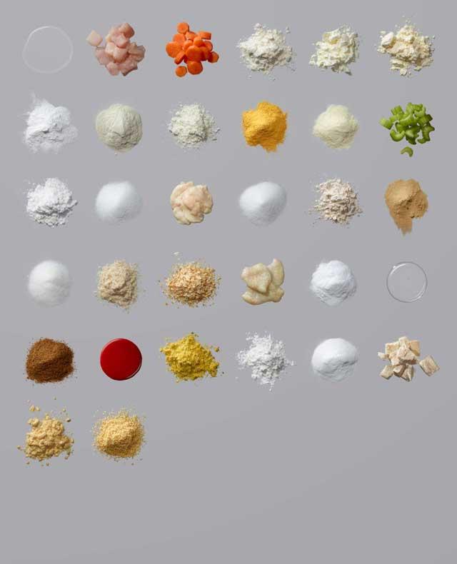 その食べ物、こんだけ色んな「粉」がはいってます