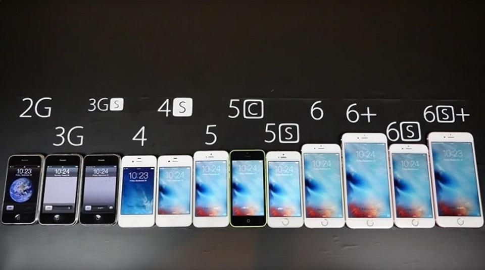 iPhone 6sから初代まで、歴代モデルの進化を一気に比較