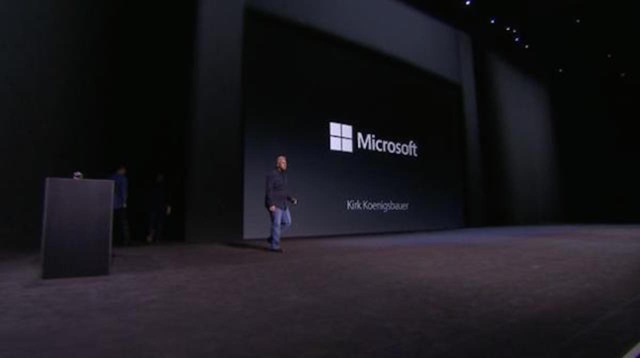 マイクロソフトがアップルの新製品発表会に登場!
