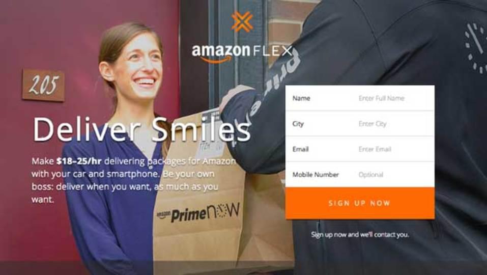 アマゾンが新宅配サービス「Amazon Flex」を開始。人類みな配達員