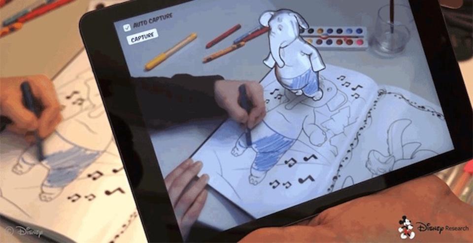イマドキの子どもたち羨ましい。ディズニーが3Dぬり絵を開発中