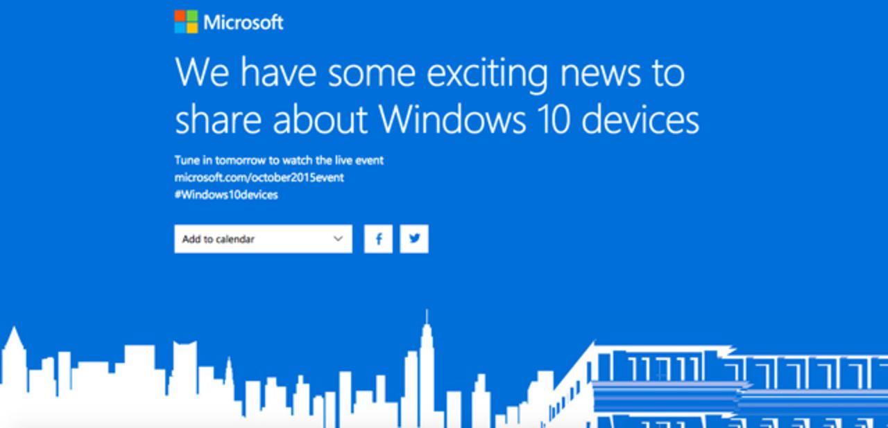 ライブ中継も配信、今夜23時からWindows 10デバイスの発表会が開催されるよー!