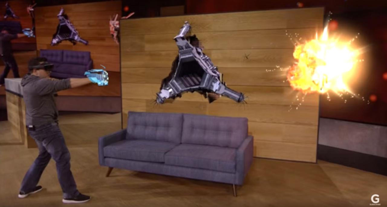部屋がゲームステージになる「HoloLens」のデモが楽しそうすぎる