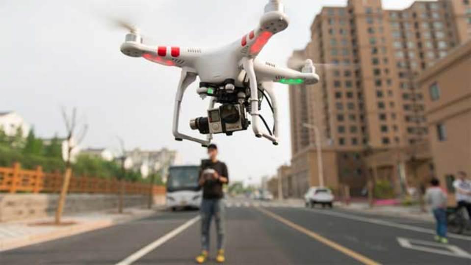 無線信号を使った違法ドローン飛行発見システム、テスト中