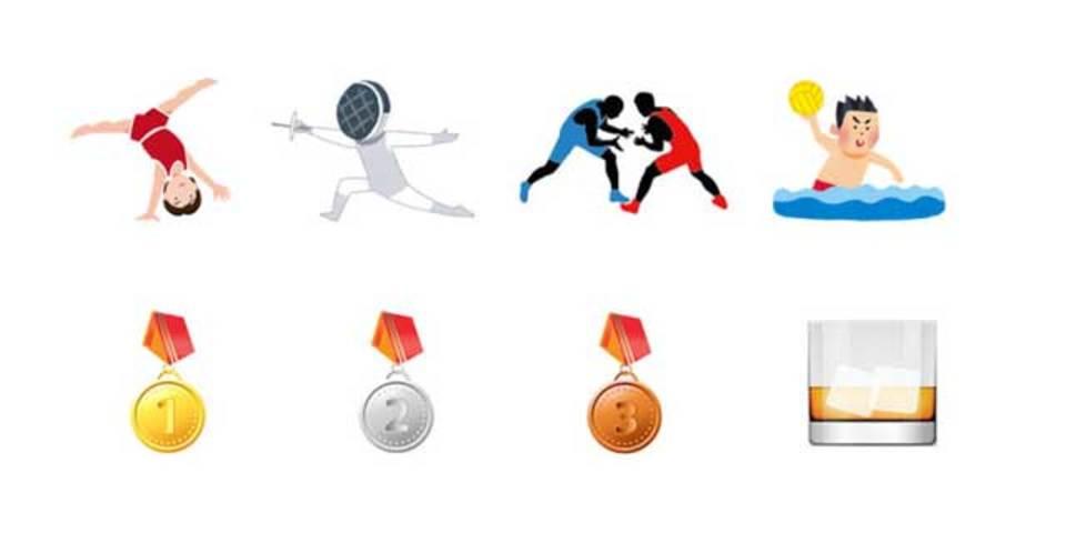 金銀銅メダルも! 2016年五輪年に追加される絵文字