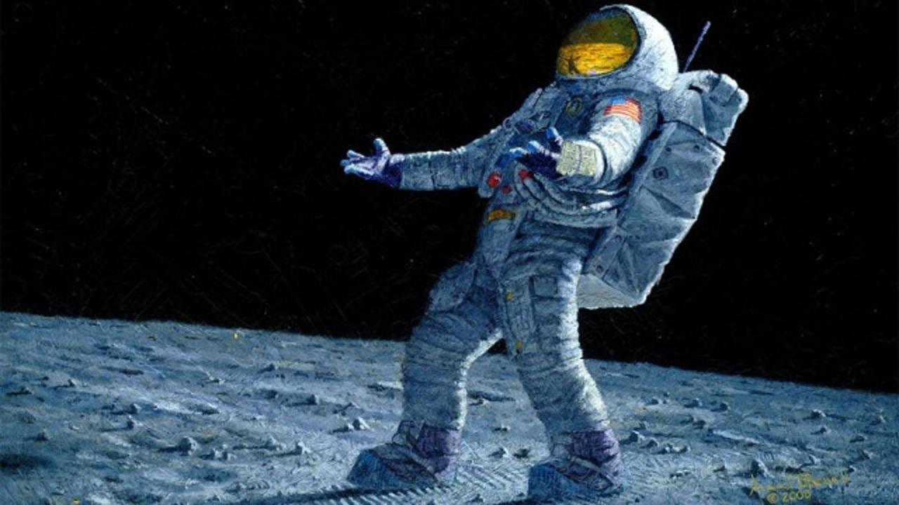 人類で4番目に月面を歩いた男、その体験を絵画にする