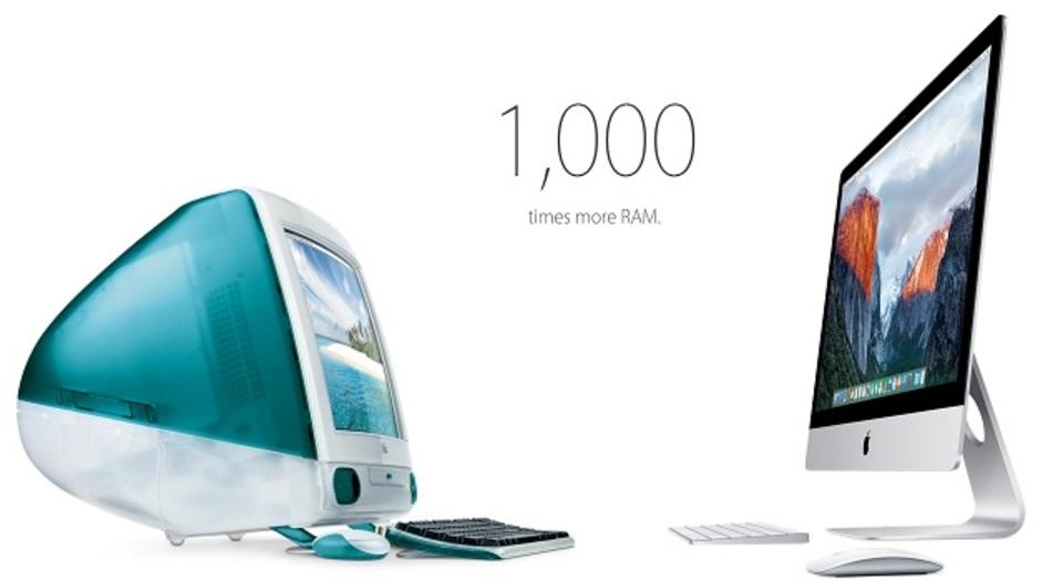 初代iMacから最新iMacまで、どれくらい進化したのかな?