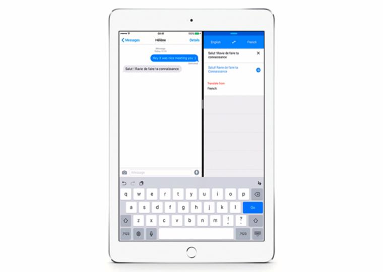 Google翻訳と画面をはんぶんこ。iOS9の新機能、Split Viewに対応