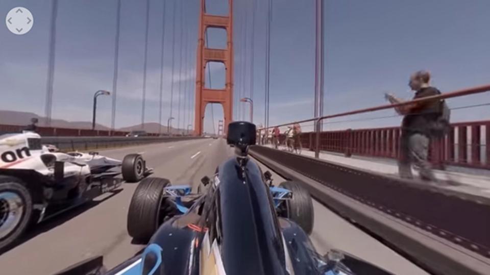 GoProをインディーカーにつけて360度見れる映像がきました