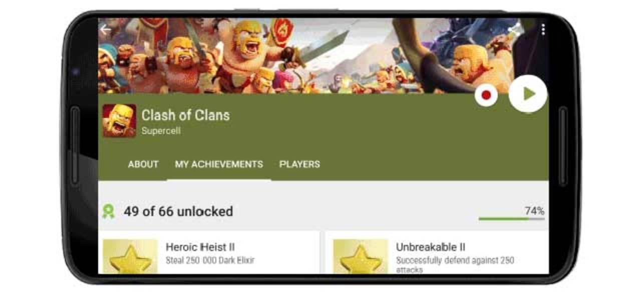 Google Play Gamesに、プレイ画面の録画&シェア機能が追加