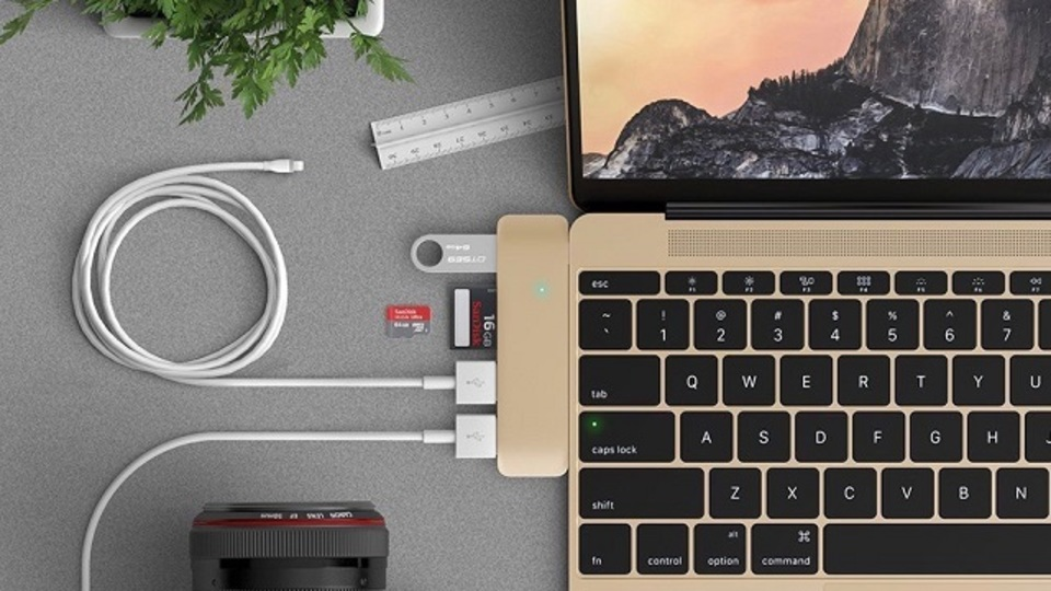 歓喜。新MacBookのポート不足がスッキリ解決できるお洒落なUSB-Cハブ