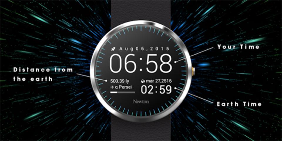宇宙旅行にぴったり、「地球ではいま何年?」がわかるスマートウォッチアプリ