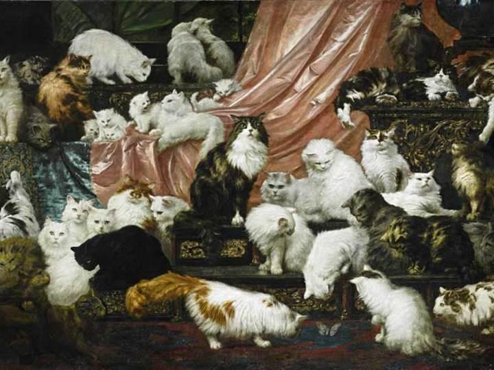 お金持ちで猫が好き。猫の絵画がオークションで1億円超え