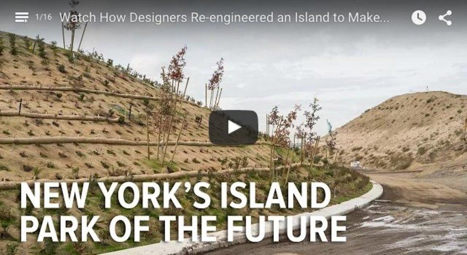 ニューヨークのある島にできた、自然の脅威から自らを守る地形を持つ公園「The Hills」