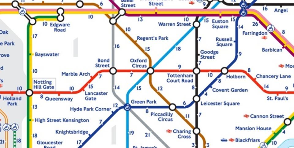 東京にも欲しい! ロンドンの新地下鉄マップは、駅間の「徒歩何分」がわかる