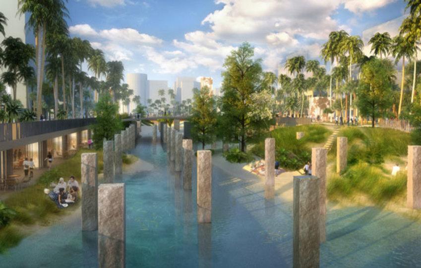 水害対策もデザインに。台湾の古いモールが水の都に生まれ変わる