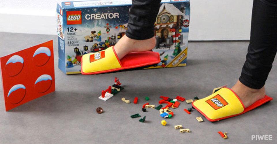 踏んづけて痛い痛い言うからさ…。レゴ公式ふかふかスリッパ!