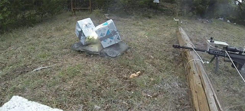 50口径の対物狙撃銃vs紙の束