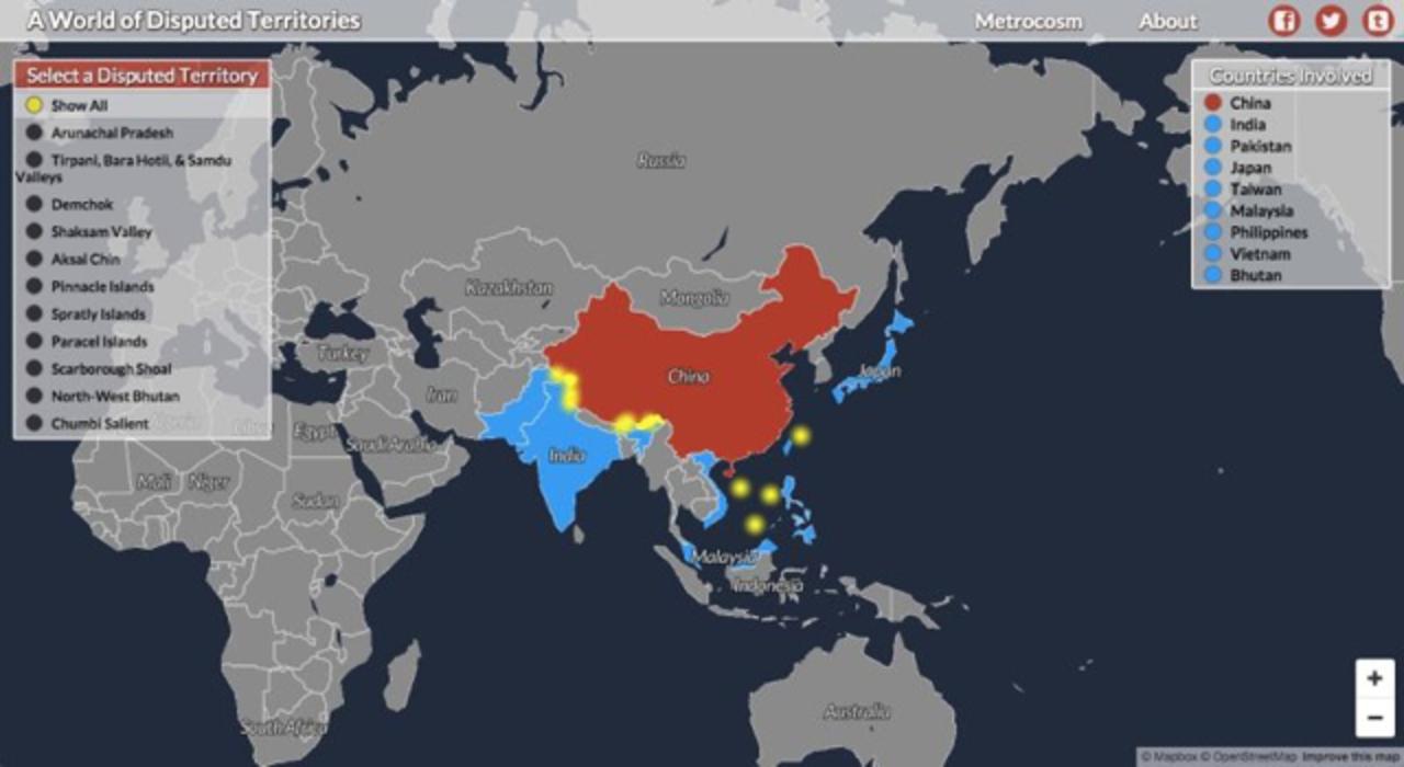 世界の領土問題についてほとんど知らない人のためのマップ