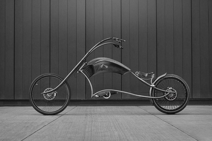 ものすごいエレガントなチョッパー電動自転車
