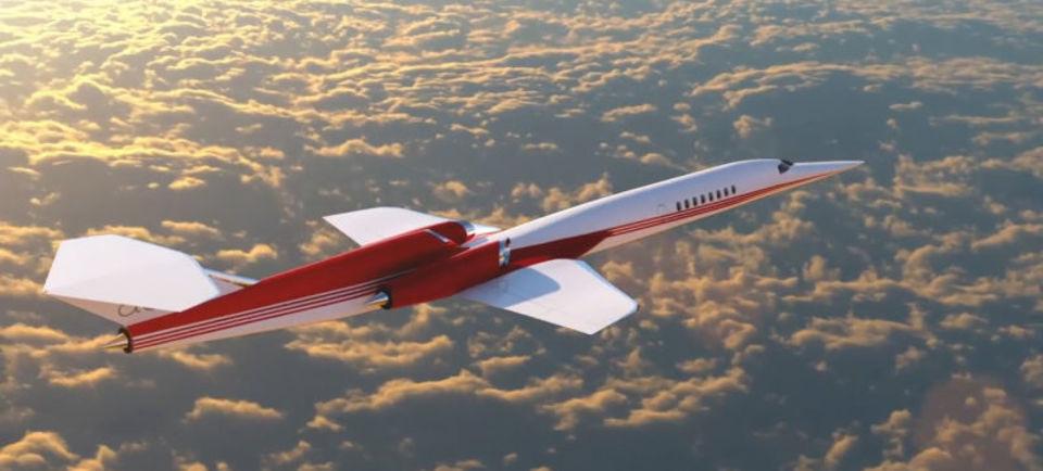 超音速で飛行するスーパーソニックジェットが世界初のプライベート機に採用