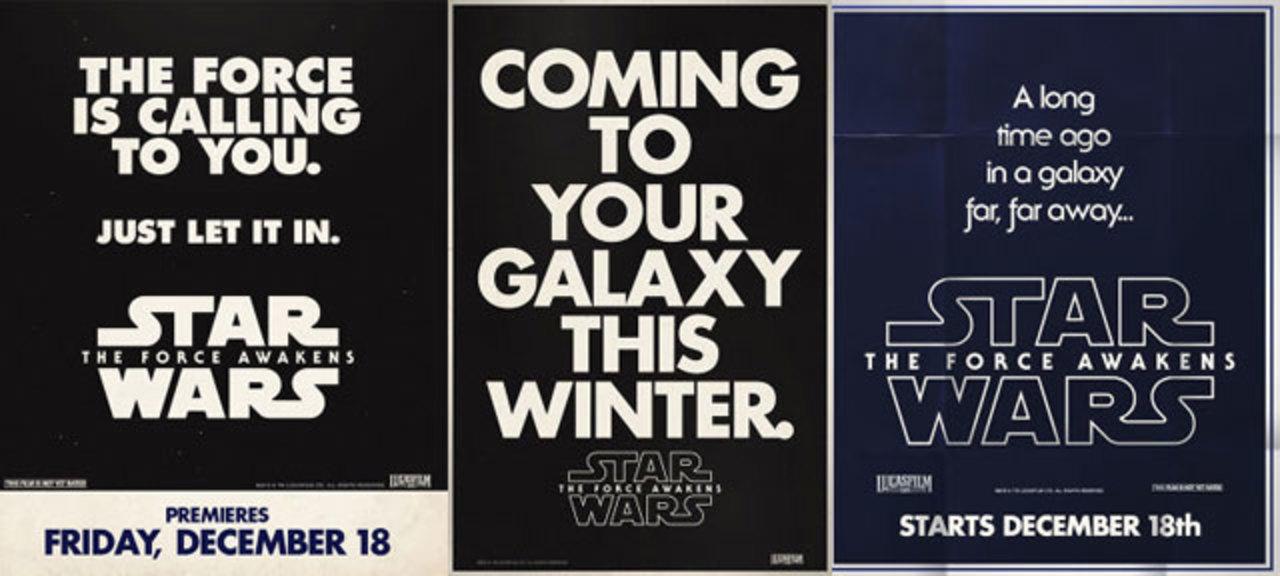 「スター・ウォーズ/フォースの覚醒」の新ポスターは1977年を思い出すレトロなデザイン